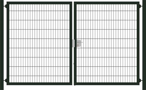 Hillfence metalen dubbele poort, Premium-line