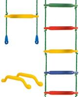 Jungle Gym touwladder, kunststof treden-3