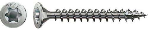 Spax schroeven, afm. 5.0 x  60 mm, rvs, pak 100 st.