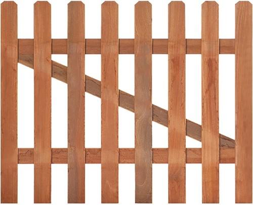 Tuinhekdeur recht, afm. 100 x  90 cm, hardhout