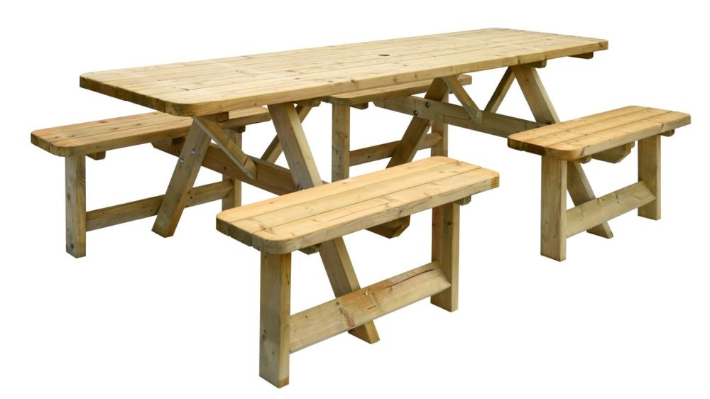 SenS-Line Picknicktafel Belfast XL, afm. 240 x 155 x 78 cm, grenen, houtdikte 42 mm