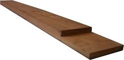 hardhouten deksloof halfhoutsverbinding voor betonschutting 12x12