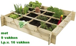 Woodvision minigarden, afm. 90 x 90 x 20 cm, geïmpregneerd grenen