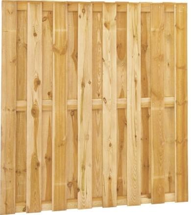 Tuinscherm, 15-planks, afm. 180 x 180 cm, geïmpregneerd grenen  ACTIE