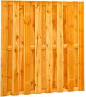 hout/betonschutting 10x10, 15 planks tuinscherm, antraciet stampbeton, per 0,95 m-3