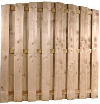 Toogscherm, 15-planks, afm. 180 x 180 cm, geïmpregneerd grenen