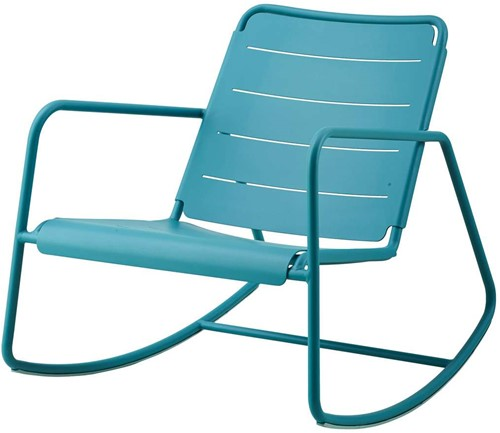 Cane-Line Copenhagen rocking chair - aqua