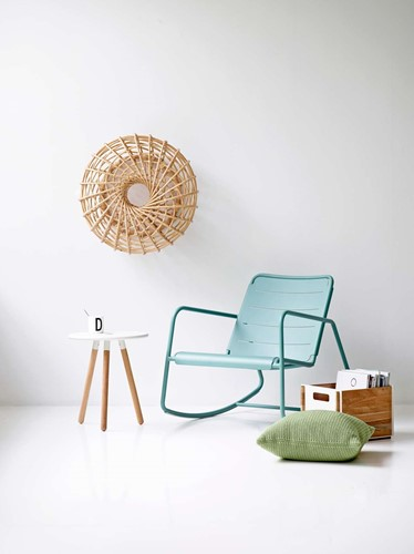 Cane-Line Copenhagen rocking chair - aqua-3