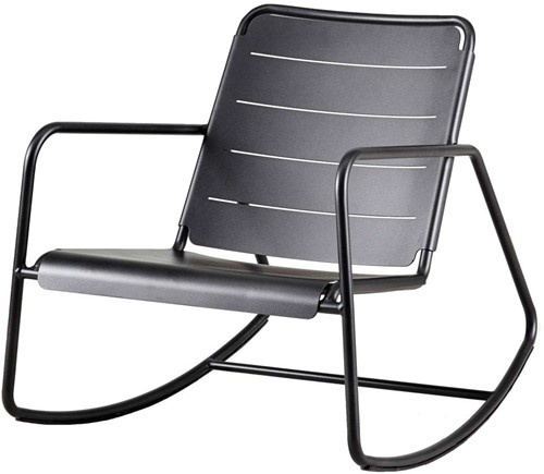 Cane-Line Copenhagen rocking chair - lava-grey