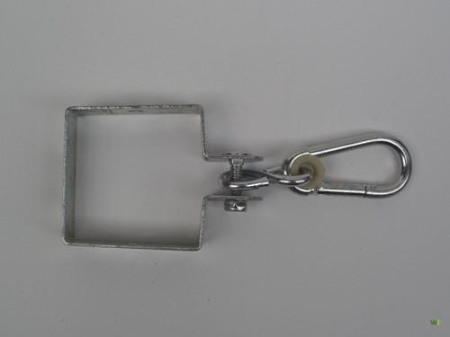 Vierkante schommelhaak, galvanisch verzinkt, afm. 90 x 90 mm