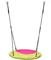 Nestschommel Winkoh magenta/limoengroen, diam. 100 cm