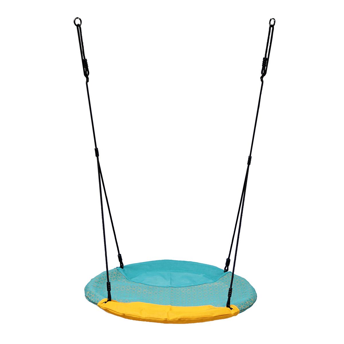 KBT Nestschommel Winkoh turqouise/geel, diam. 100 cm