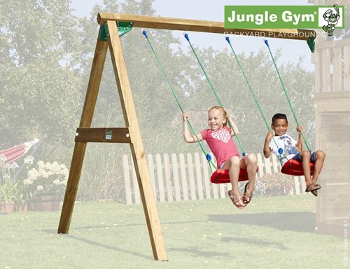 Jungle Gym Swing Module Duo, inclusief houtpakket