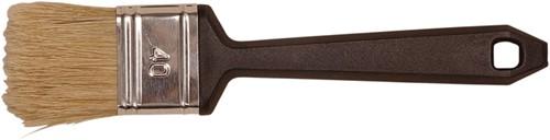 Basic platte weggooi-kwast acryl 80 mm