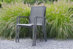 Borek Soria tuinstoel, rvs frame, stapelbaar