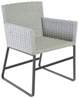 Borek Deia dining stoel, aluminium met gevlochten fibre-2