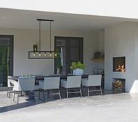 Borek Deia dining stoel, aluminium met gevlochten fibre