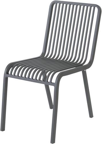 Max & Luuk Stripe stapelbare stoel zonder armleuningen, alu - antraciet