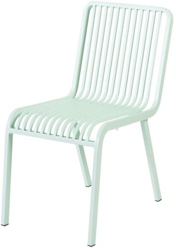 Max & Luuk Stripe stapelbare stoel zonder armleuningen, alu - mint