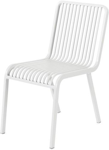 Max & Luuk Stripe stapelbare stoel zonder armleuningen, alu - wit