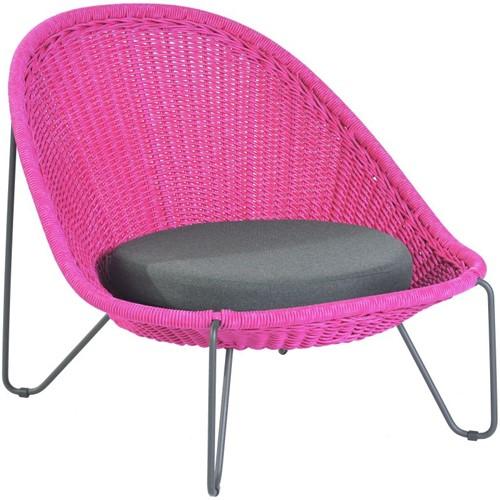 Borek Pasturo lounge stoel  - fuchsia