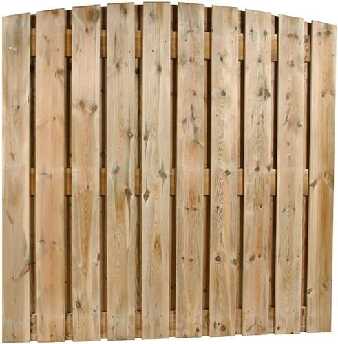 Toogscherm, 22-planks, afm. 180 x 180 cm, geïmpregneerd grenen