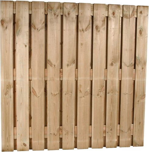 Tuinscherm, 22-planks, afm. 180 x 180 cm, geïmpregneerd grenen