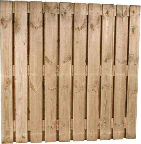 Tuinscherm, 22-planks, afm. 225 x 180 cm, geïmpregneerd grenen