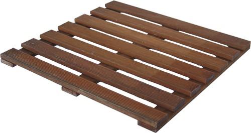 hardhouten reliëftegel 50x50