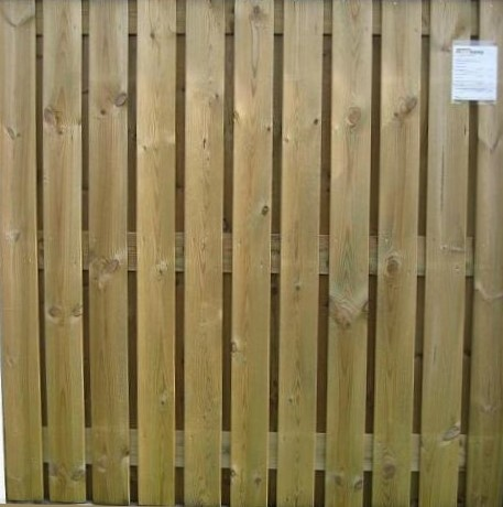 hout/betonschutting 10x10, 24-planks scherm, grijs stampbeton, per 0,95 m-3