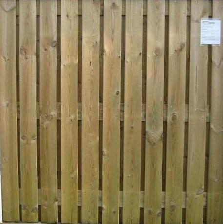 hout/betonschutting 12x12, 24-planks scherm, geïmpregneerde deksloof, wit beton, per 0,94 m-3