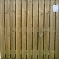 hout/betonschutting 12x12, 24-planks scherm, geïmpregneerde deksloof, dubbele betonplaat, wit beton, per 0,94 m-3