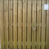 hout/betonschutting 12x12, 24-planks scherm, geïmpregneerde deksloof, dubbele betonplaat, wit beton, per 0,94 m