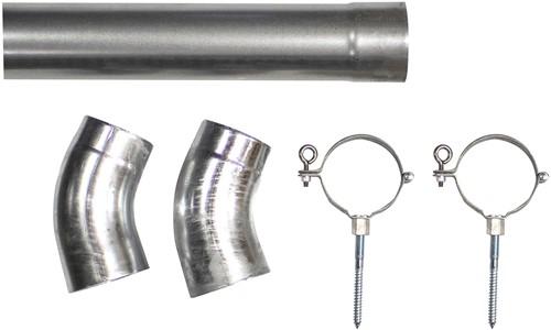 verzinkte hemelwaterafvoerset, diameter 80 mm, lengte 275 cm