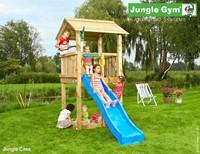Jungle Gym speeltoren Jungle Casa, montagekit inclusief glijbaan en houtpakket op maat gezaagd