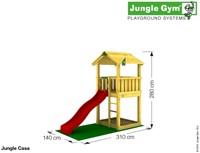 Jungle Gym speeltoren Jungle Casa, montagekit inclusief glijbaan en houtpakket op maat gezaagd-2