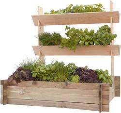Woodvision minigarden met plantenbakken, afm. 90 x 90 x 100 cm, geïmpregneerd grenen