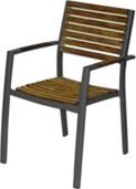 Tuinset: 4 Verona stoelen, Europa tafel  afm. 150 x 90 cm, showmodel