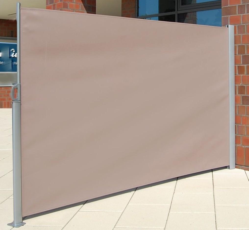 SenS-Line Windscherm op rolsysteem, afm. 300 x 180 cm, zand, op=op