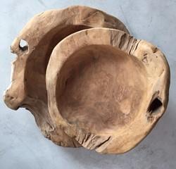 teak schaal 40 - 50 cm