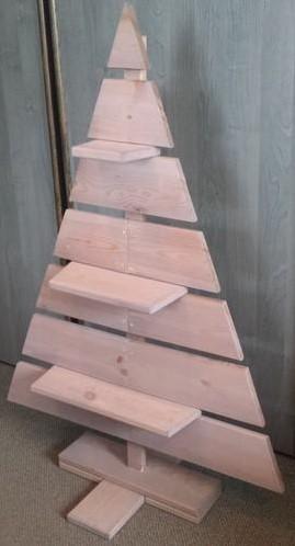 Houten kerstboom Pjotr, hoogte 110 cm, FSC grenen