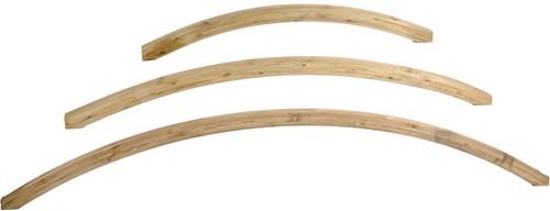 lijmhoutboog, afm. ± 4,5 x 7 cm, lengte 230 cm, B-keus