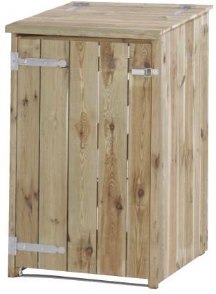 Containerkast, enkel, afm.  73 x 91 cm, hoogte 127, geimpregneerd grenen