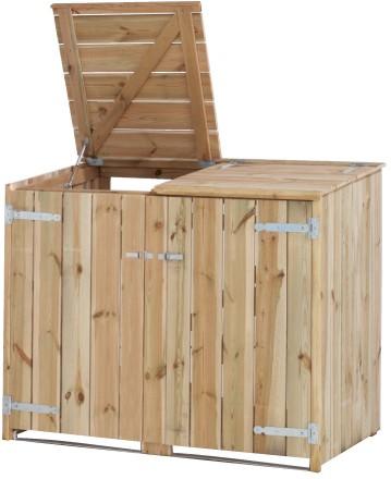 Containerkast, dubbel, afm. 150 x 91 cm, hoogte 127 cm