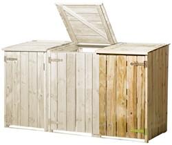 Containerkast, uitbreiding, afm. 73 x 91 cm, hoogte 127 cm, geimpregneerd grenen