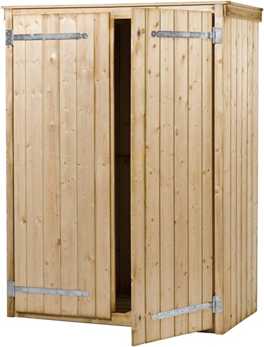 Hillhout tuinkast Zonnebloem, afm. 137 x 70 cm, hoogte 190 cm, geimpregneerd rabat