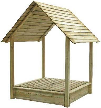 Outdoor Life Zandbak met dak, 140x134x154 cm