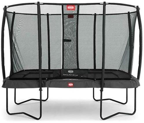 BERG trampoline EazyFit Grey, veiligheidsnet DeLuxe EazyFit, afm. 220 x 330 cm