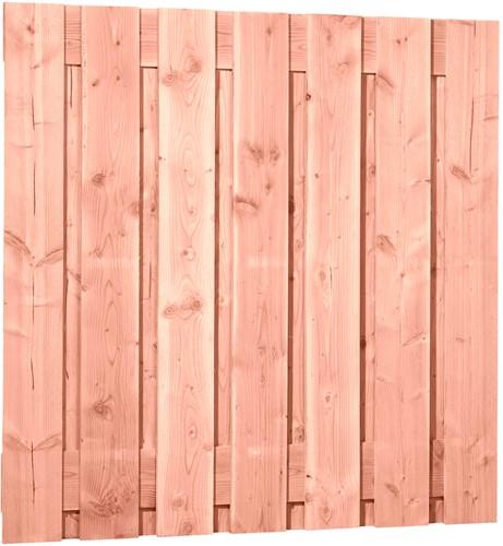 Douglas tuinscherm, afm 180 x 180 cm, 15-planks