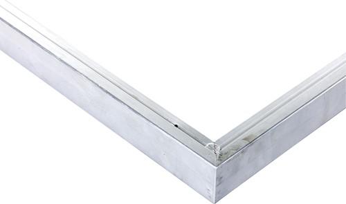 Daktrim recht voor tuinhuis/overkapping plat dak t/m 350 x 350 cm, aluminium